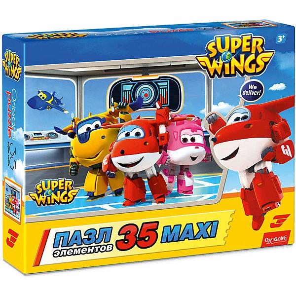 Пазл Maxi Origami Супер Крылья Планируем полет, 35 элементовПазлы для малышей<br>Характеристики товара:<br><br>• возраст: от 3 лет;<br>• пол: для девочек и мальчиков;<br>• количество деталей: 36 шт.;<br>• из чего сделана игрушка (состав): картон, бумага;<br>• размер упаковки: 23х5х18 см.;<br>• вес: 165 гр.;<br>• упаковка: картонная коробка;<br>• страна обладатель бренда: Россия.<br><br>Красочный макси-пазл «Планируем полет» порадует поклонников увлекательного анимационного сериала «Супер Крылья». <br><br>Головоломка включает в себя 35 крупных картонных элементов, которые даже неопытному ребенку будет удобно брать и складывать в цельное изображение.<br><br>Детей ждут веселые персонажи: Донни, Джетт, Дизи и Джером, парящие в воздухе.<br><br>Пазл «Планируем полет» можно купить в нашем интернет-магазине.<br>Ширина мм: 230; Глубина мм: 50; Высота мм: 180; Вес г: 165; Возраст от месяцев: 36; Возраст до месяцев: 2147483647; Пол: Унисекс; Возраст: Детский; SKU: 7335583;