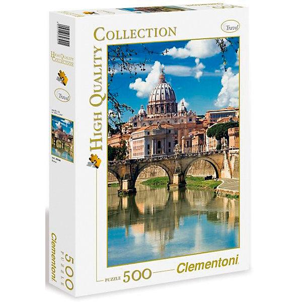 Clementoni Пазл Clementoni Рим, Собор Святого Петра, 500 элементов clementoni пазл hq лондон красная телефонная будка 500