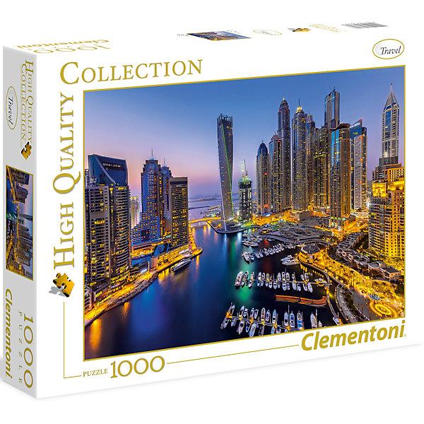 Clementoni Пазл Clementoni Ночной Дубай, 1000 элементов clementoni пазл hq лондон красная телефонная будка 500