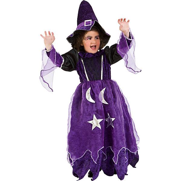 Карнавальный костюм Veneziano Фея Волшебница для девочкиКарнавальные костюмы для девочек<br>Характеристики товара:<br><br>• цвет: фиолетовый;<br>• состав: 80% полиэстер, 20% акрил;<br>• в комплекте: платье и колпак;<br>• внимание! Обувь в комплект не входит;<br>• сезон: круглый год;<br>• страна бренда: Италия;<br>• страна изготовитель: Италия.<br><br>Карнавальный костюм Veneziano для девочки. Итальянский карнавальный костюм Veneziano «Фея волшебница» Идеальный карнавальный костюм для праздника. Ваша маленькая Фея может заколдовать любого на празднике. Платье из стрейч велюра с серебряными звёздами и полумесяцами, колпак с пряжкой. Необычно и ново! Обувь в комплект не входит. <br><br>Карнавальный костюм Veneziano можно купить в нашем интернет-магазине.<br>Ширина мм: 236; Глубина мм: 16; Высота мм: 184; Вес г: 177; Цвет: синий; Возраст от месяцев: 72; Возраст до месяцев: 84; Пол: Женский; Возраст: Детский; Размер: 122,134; SKU: 7336853;