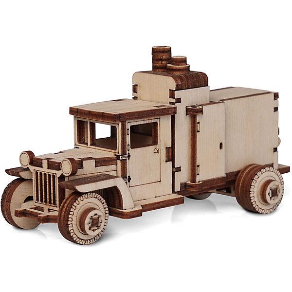 Lemmo Сборная деревянная модель Lemmo Грузовик ЗИС. Компрессор, подвижная конструктор lemmo советский грузовик зис 5в 49 элементов