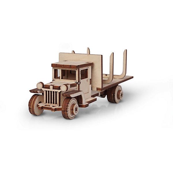 Сборная деревянная модель Lemmo Грузовик ЗИС 12. Лесовоз, подвижнаяДеревянные модели<br>Характеристики:<br><br>• тип игрушки: конструктор<br>• возраст: от 5 лет;<br>• количество деталей: 43 шт;<br>• комплектация: клей ПВА, наждачная бумага, подробная инструкция;<br>• размер: 20x10х1 см;<br>• вес: 80 гр;<br>• бренд: Lemmo;<br>• материал: дерево.<br><br>Конструктор 3D подвижный Lemmo «Грузовик ЗИС 12 Лесовоз» - это небольшой набор, подойдет для самостоятельной сборки детям от 5 лет, а детям помладше понадобится помощь родителей. В собранном виде у грузовика крутятся колеса, и он отлично ездит по любой поверхности.<br><br>Экологически чистые, развивающие конструкторы от российского производителя «Lemmo» помогут вашему ребенку развить мелкую моторику рук, воображение, пространственное мышление, логику и предметное моделирование.<br><br>Все детали выполнены из качественной древесины и имеют сильный насыщенный запах дерева. Наборы укомплектованы клеем ПВА и наждачной бумагой. Любой конструктор после сборки можно раскрасить акриловыми и гуашевыми красками, но даже без этого в результате получается полноценная красивая игрушка с подвижными элементами. <br><br>Конструктор 3D подвижный Lemmo «Грузовик ЗИС 12 Лесовоз» можно купить в нашем интернет-магазине.<br>Ширина мм: 200; Глубина мм: 100; Высота мм: 10; Вес г: 80; Возраст от месяцев: 60; Возраст до месяцев: 2147483647; Пол: Мужской; Возраст: Детский; SKU: 7338211;