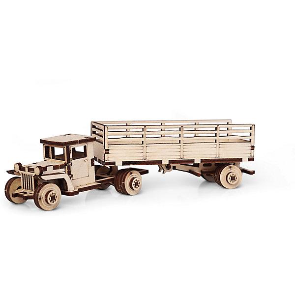 Lemmo Сборная деревянная модель Lemmo Грузовик ЗИС 10. Тягач, подвижная конструктор lemmo советский грузовик зис 5в 49 элементов