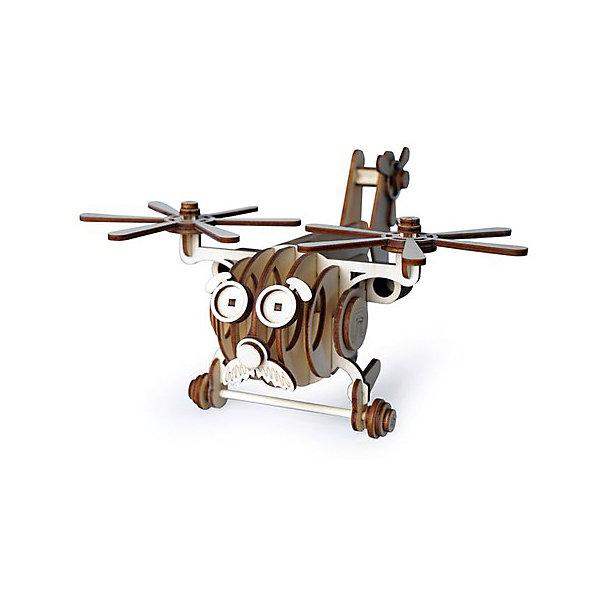 Lemmo Сборная деревянная модель Lemmo Вертолет Палыч, подвижная конструктор lemmo вертолет витя 44эл