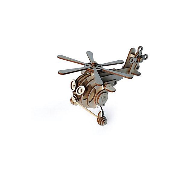 Lemmo Сборная деревянная модель Lemmo Вертолет Витя, подвижная конструктор lemmo вертолет витя 44эл