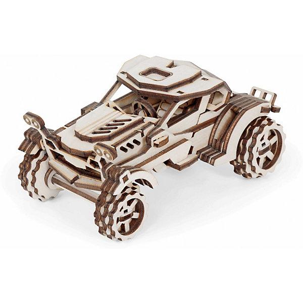 Сборная деревянная модель Lemmo Внедорожник Скорпион, подвижнаяДеревянные модели<br>Характеристики:<br><br>• тип игрушки: конструктор<br>• возраст: от 5 лет;<br>• количество деталей: 74 шт;<br>• комплектация: наждачная бумага, подробная инструкция, клей ПВА;<br>• размер: 21,5x10,5х3 см;<br>• вес: 250 гр;<br>• бренд: Lemmo;<br>• материал: дерево.<br><br>Конструктор 3D подвижный Lemmo «Внедорожник Скорпион»  станет отличным подарком для маленьких любителей машинок. Этот необычный и оригинальный автомобиль подходит для самостоятельной сборки детям от 5 лет. У собранного внедорожника крутятся колеса, а дверцы откидываются наверх вместе с крышей.<br><br>Экологически чистые, развивающие конструкторы от российского производителя «Lemmo» помогут вашему ребенку развить мелкую моторику рук, воображение, пространственное мышление, логику и предметное моделирование.<br><br>Все детали выполнены из качественной древесины и имеют сильный насыщенный запах дерева. Наборы укомплектованы клеем ПВА и наждачной бумагой. Любой конструктор после сборки можно раскрасить акриловыми и гуашевыми красками, но даже без этого в результате получается полноценная красивая игрушка с подвижными элементами.<br><br>Конструктор 3D подвижный Lemmo «Внедорожник Скорпион» можно купить в нашем интернет-магазине.<br>Ширина мм: 215; Глубина мм: 105; Высота мм: 30; Вес г: 250; Возраст от месяцев: 60; Возраст до месяцев: 2147483647; Пол: Унисекс; Возраст: Детский; SKU: 7338232;