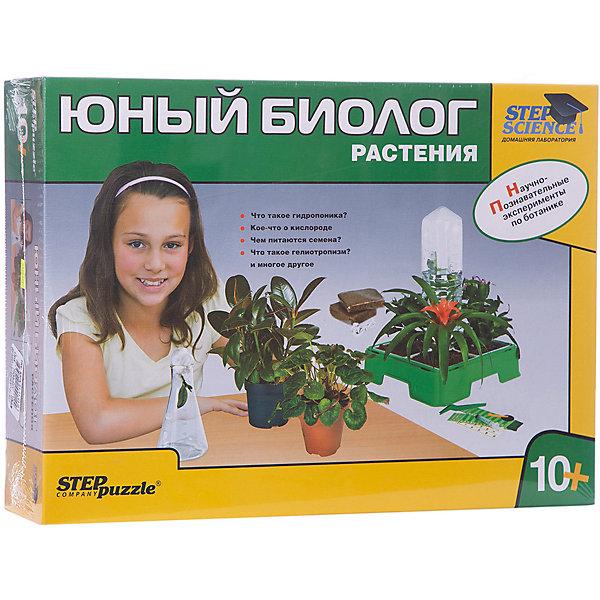 Набор для опытов Step Puzzle Домашняя лаборатория Юный биолог. РастенияВыращивание растений<br>Характеристики товара:<br><br>• возраст: от 10 лет;<br>• материал: пластик, металл;<br>• размер упаковки: 43х31,5х11,5 см.;<br>• упаковка: картонная коробка;<br>• вес в упаковке: 1,8 кг.;<br>• бренд, страна производства: STEP puzzle, Россия.<br><br>Домашняя лаборатория «Юный биолог. Растения» этот научно-позновательский набор станет отличным подарком для любознательных детей. <br><br>В наборе есть все необходимое оборудование для проведения научно-познавательных экспериментов по ботанике. Проводя опыты, юный естествоиспытатель узнает: Что такое гидропоника; Кое-что о кислороде; Чем питаются семена; Что такое гелиотропизм.<br><br>Рекомендуемый возраст: от 10 лет, под наблюдением взрослых.<br><br>Домашняя лаборатория «Юный биолог. Растения», STEP puzzle можно купить в нашем интернет-магазине.<br>Ширина мм: 430; Глубина мм: 315; Высота мм: 115; Вес г: 1835; Возраст от месяцев: 120; Возраст до месяцев: 2147483647; Пол: Унисекс; Возраст: Детский; SKU: 7338321;