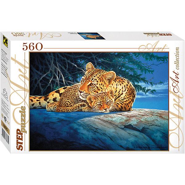 Пазл Step Puzzle Леопарды, 560 элементовПазлы классические<br>Характеристики товара:<br><br>• возраст: от 7 лет;<br>• количество деталей: 560;<br>• размер собранной картины: 50х34,5 см.;<br>• материал: картон;<br>• размер упаковки: 33x22x4 см.;<br>• упаковка: картонная каробка;<br>• бренд, страна производства: STEP puzzle, Россия.<br>                                                                                                                                                                                                                                                                                                                       <br>Пазл «Леопарды», состоящий из 560 элементов, придется по душе всей вашей семье. Собрав этот пазл, вы получите оригинальный красочный постер с изображением двух леопардов, мамы и детеныша, лежащих на скале и освещенных лунным светом. . <br><br>Пазл выполнен из высококачественных материалов, что обеспечивает идеальное прилегание элементов друг к другу. Готовую картину можно склеить, вставить в рамку и повесить на стену.<br><br>Собирание пазлов это не только интересно, но и полезно: ведь в процессе создания картинки развивается мелкая моторика, тренируются наблюдательность и логическое мышление.<br><br>Пазл «Леопарды», 560 деталей можно купить в нашем интернет-магазине.<br>Ширина мм: 335; Глубина мм: 215; Высота мм: 39; Вес г: 350; Возраст от месяцев: 84; Возраст до месяцев: 2147483647; Пол: Унисекс; Возраст: Детский; SKU: 7338349;