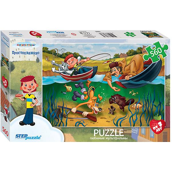 Степ Пазл Пазл Step Puzzle Простоквашино, 560 элементов степ пазл пазл step puzzle винни пух 560 элементов