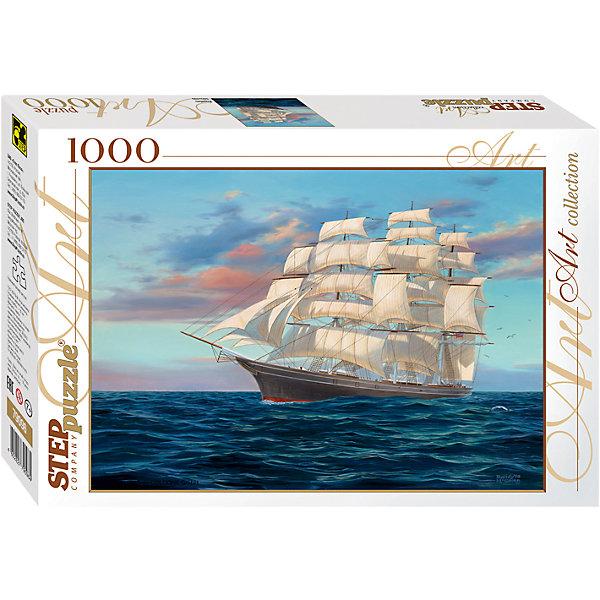 Пазл Step Puzzle Корабль, 1000 элементовПазлы классические<br>Характеристики товара:<br><br>• возраст: от 7 лет;<br>• количество деталей: 1000;<br>• размер собранной картины: 68х48 см.;<br>• материал: картон;<br>• размер упаковки: 40x27x5,5 см.;<br>• упаковка: картонная каробка;<br>• бренд, страна производства: STEP puzzle, Россия.<br>                                                                                                                                                                                                                                                                                                                       <br>Пазл «Корабль», состоящий из 1000 элементов, придется по душе всей вашей семье. Собрав этот пазл, вы получите чудесную картину с реалистичным изображением корабля с белыми парусами, бороздящего водные просторы.<br><br>Пазл выполнен из высококачественных материалов, что обеспечивает идеальное прилегание элементов друг к другу. Готовую картину можно склеить, вставить в рамку и повесить на стену.<br><br>Собирание пазлов это не только интересно, но и полезно: ведь в процессе создания картинки развивается мелкая моторика, тренируются наблюдательность и логическое мышление.<br><br>Пазл «Корабль», 1000 деталей можно купить в нашем интернет-магазине.<br>Ширина мм: 400; Глубина мм: 270; Высота мм: 55; Вес г: 780; Возраст от месяцев: 84; Возраст до месяцев: 2147483647; Пол: Унисекс; Возраст: Детский; SKU: 7338367;