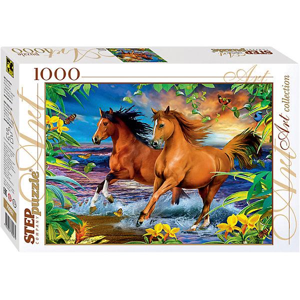 Степ Пазл Пазл Step Puzzle Лошади, 1000 элементов пазл лошади у крыльца адам альбрехт step puzzle 1000 деталей