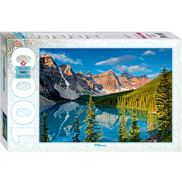 Степ Пазл Пазл Step Puzzle Горное озеро, 1000 элементов пазл пагода step puzzle 1000 деталей