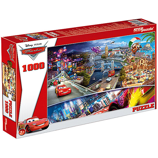 Степ Пазл Пазл Step Puzzle Disney. Тачки, 1000 элементов пазл 1000 piece jigsaw puzzle 1000 12 1000 cf dnf 1000 70 50cm