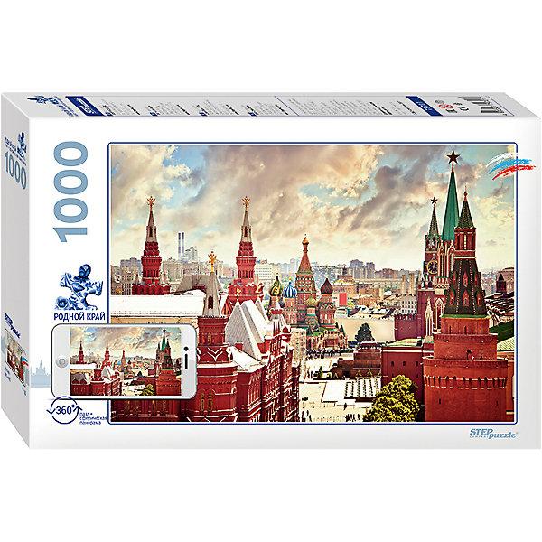 Пазл Step Puzzle Родной край Москва, 1000 элементовПазлы классические<br>Характеристики товара:<br><br>• возраст: от 7 лет;<br>• количество деталей: 1000;<br>• размер собранной картины: 68х48 см.;<br>• материал: картон;<br>• размер упаковки: 40x27x5,5 см.;<br>• упаковка: картонная каробка;<br>• бренд, страна производства: STEP puzzle, Россия.<br>                                                                                                                                                                                                                                                                                                                       <br>Пазл «Москва» из серии Родной Край, состоящий из 1000 элементов, придется по душе всей вашей семье. Собрав этот пазл, вы получите яркую детализированную картинку с изображением одного из красивейших мест России - Красной площади города Москвы.<br><br>Пазл выполнен из высококачественных материалов, что обеспечивает идеальное прилегание элементов друг к другу. Готовую картину можно склеить, вставить в рамку и повесить на стену.<br><br>Собирание пазлов это не только интересно, но и полезно: ведь в процессе создания картинки развивается мелкая моторика, тренируются наблюдательность и логическое мышление.<br><br>Пазл «Москва», 1000 деталей можно купить в нашем интернет-магазине.<br>Ширина мм: 330; Глубина мм: 215; Высота мм: 55; Вес г: 620; Возраст от месяцев: 84; Возраст до месяцев: 2147483647; Пол: Унисекс; Возраст: Детский; SKU: 7338392;