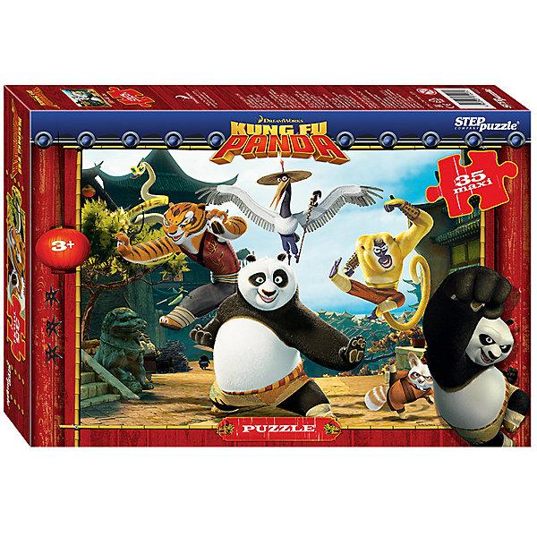 Пазл Maxi Step Puzzle Кунг-фу Панда, 35 элементовПазлы для малышей<br>Характеристики товара:<br><br>• возраст: от 3 лет;<br>• количество элементов: 35;<br>• материал: картон;<br>• размер собранного пазла: 68х48 см;<br>• упаковка: картонная коробка;<br>• размер упаковки: 40х27х5,5 см;<br>• бренд, страна производства: STEP puzzle, Россия.<br><br>Макси-пазл «Кунг-фу Панда» состоит из 35 крупных и ярких элементов, которые образуют чудесную картинку с изображением любимых героев одноименного мультфильма.<br><br>Пазл упакован в картонную коробку с изображением основной картинки, на которую удобно ориентироваться при сборке. Большие детали позволяют самостоятельно собирать картинку даже маленьким детям.<br><br>Пазл сделан из прочных и качественных, нетоксичных и гипоаллергенных материалов. Собирая пазл, ребенок будет развивать концентрацию внимания, память, визуальное восприятие, логическое мышление и мелкую моторику рук.<br><br>Макси-пазл «Кунг-фу Панда», 35 элементов можно купить в нашем интернет-магазине.<br>Ширина мм: 400; Глубина мм: 270; Высота мм: 55; Вес г: 780; Возраст от месяцев: 36; Возраст до месяцев: 2147483647; Пол: Унисекс; Возраст: Детский; SKU: 7338438;