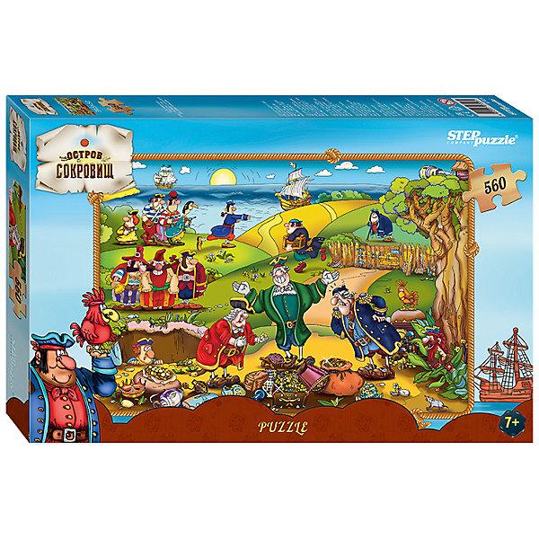 Пазл Step Puzzle Остров сокровищ, 560 элементовСоветские мультфильмы<br>Характеристики товара:<br><br>• возраст: от 7 лет;<br>• количество деталей: 560;<br>• размер собранной картины: 50х34,5 см.;<br>• материал: картон;<br>• размер упаковки: 33,5x21,5x4 см.;<br>• упаковка: картонная каробка;<br>• бренд, страна производства: STEP puzzle, Россия.<br>                                                                                                                                                                                                                                                                                                                       <br>Пазл «Остров сокровищ», состоящий из 560 элементов, придется по душе всей вашей семье. Собрав этот пазл, вы получите яркую детализированную картинку с изображением героев романа Роберта Стивенсона Остров сокровищ: пирата Юнга Джима, доктора Ливси, капитана Смолета, сквайра Трелони и других.<br><br>Пазл выполнен из высококачественных материалов, что обеспечивает идеальное прилегание элементов друг к другу. Такой красочный постер сможет стать прекрасным украшением детской комнаты. <br><br>Собирание пазлов это не только интересно, но и полезно: ведь в процессе создания картинки развивается мелкая моторика, тренируются наблюдательность и логическое мышление.<br><br>Пазл «Остров сокровищ», 560 деталей можно купить в нашем интернет-магазине.<br>Ширина мм: 335; Глубина мм: 215; Высота мм: 39; Вес г: 350; Возраст от месяцев: 84; Возраст до месяцев: 2147483647; Пол: Унисекс; Возраст: Детский; SKU: 7338454;