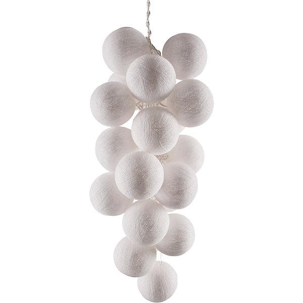 Гирлянда LED 7.5м Белые 220ВНовогодние электрогирлянды<br>Характеристики:<br><br>• возраст: от 3 лет;<br>• тип игрушки: гирлянда;<br>• цвет: белый;<br>• вид лампы: светодиодный;<br>• тип подключения: шнур питания 220 В;<br>• размер: 900х6х6 см;<br>• вес: 750 гр; <br>• общая длина гирлянды: 9 м;<br>• материал: силикон; <br>• бренд: Гирляндус.<br><br>Гирлянда LED 7.5 м 220 В «Белые» представляет из себя изделие ручной работы белого цвета, которое станет изысканным украшением к новогодним праздникам. Нежная гирлянда имеет длину от шарика до шарика 7.5 метра, а ее общая длина – 9 м. <br><br>Каждый шарик сделан вручную из ниток и клея, светится приятным мягким светом. Шарики  хрупкие, но даже если вы их помнёте, их всегда можно выправить. В гирлянде используются светодиодные лампочки. Качественный материал не оказывает вреда и проверен на безопасность. На ощупь гирлянда также приятна. <br><br>В комплекте прилагается инструкция. Гирлянда  от фирмы «Гирляндус» доступна для детей от трех лет и старше. Благодаря такой гирлянде можно создать праздничную атмосферу, красиво украсив дом.<br><br>Гирлянду LED 7.5 м 220 В «Белые»  можно купить в нашем интернет-магазине.