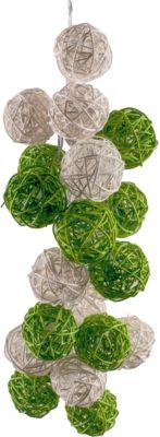 Гирлянда ротанг LED 1.5м  Бело-зеленые  от батареек, артикул:7338792 - Украшения для детского праздника