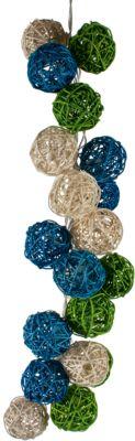 Гирлянда ротанг LED 1.5м  Зелёная волна  220В, артикул:7338803 - Украшения для детского праздника