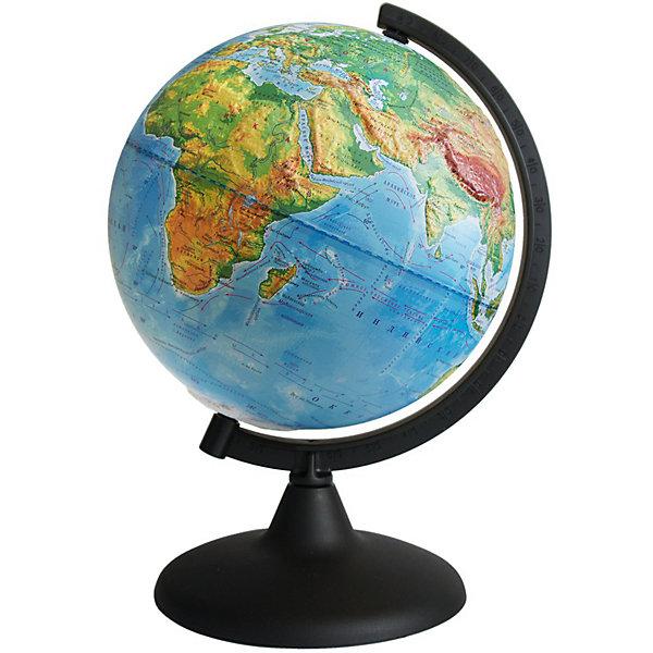 Глобус Земли физический рельефныйГлобусы<br>Характеристики товара:<br><br>• возраст: от 6 лет;<br>• материал: пластик;<br>• диаметр: 21 см;<br>• размер упаковки: 21х22х24,6 см;<br>• вес упаковки: 440 гр.;<br>• страна производитель: Россия.<br><br>Глобус Земли физический рельефный — отличное пособие для изучения географии как для школьников, так и для студентов. Он позволит познакомиться с нашей планетой. Глобус — физический, на нем нанесены материки, моря, рельеф суши и морского дна, растительный покров, холодные и теплые течения, крупные населенные пункты. <br><br>Глобус Земли физический рельефный можно приобрести в нашем интернет-магазине.<br>Ширина мм: 210; Глубина мм: 220; Высота мм: 246; Вес г: 440; Возраст от месяцев: 72; Возраст до месяцев: 2147483647; Пол: Унисекс; Возраст: Детский; SKU: 7340371;