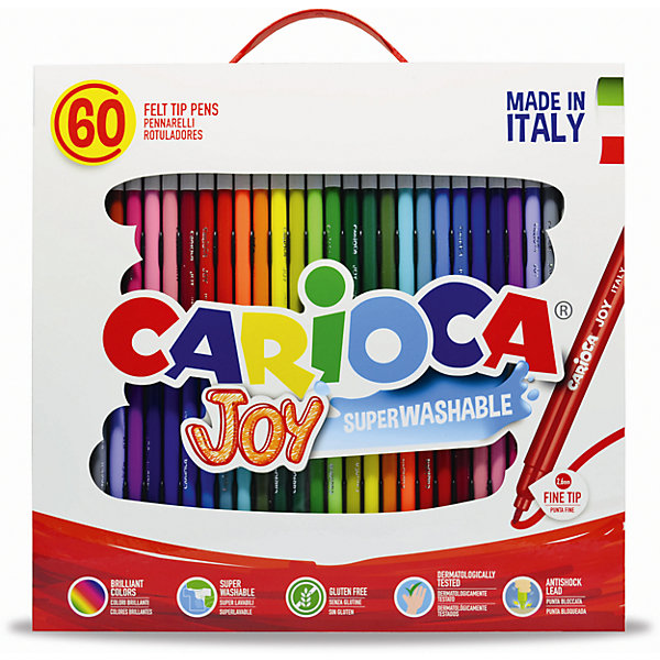 Фото Carioca Набор фломастеров CARIOCA JOY, 60 цв., в чемоданчике картонном