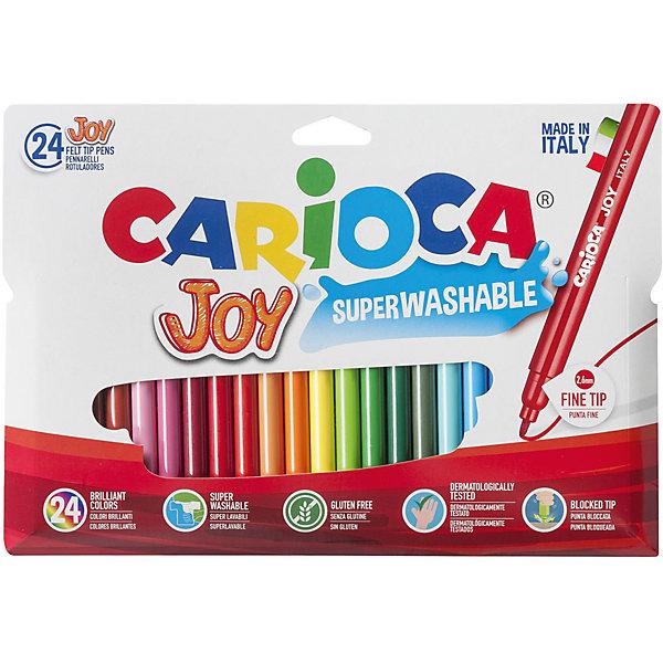 Carioca Набор фломастеров CARIOCA JOY, 24 цв., в картонном конверте с европодвесом carioca набор фломастеров carioca perfume 12 цв в картонном коробе с европодвесом