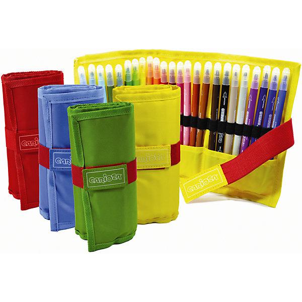 Набор двусторонних фломастеров BIRELLO, 24 цв., в пеналеФломастеры<br>Характеристики товара:<br><br>• Возраст: от 3 лет;<br>• Количество цветов: 24<br>• Тип письма: двухсторонний одноцветный<br>• Толщина линии письма: 2,6 мм 4,7 мм<br>• Тип упаковки: пенал на липучке<br>• Суперсмываемые<br>• Вентилируемый колпачок<br>• Ударопрочный пишущий узел<br>• Не содержат глютен<br>• Размер упаковки: 6х4х15 см;<br>• Вес: 308 гр.;<br>• Страна происхождения: Италия.<br><br>Набор двусторонних фломастеров BIRELLO, 24 цв., в пенале можно купить в нашем интернет-магазине.