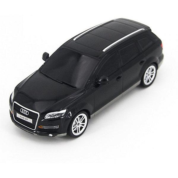 Радиоуправляемая машинка Rastar Audi Q7 1:24, чернаяРадиоуправляемые машины<br>Характеристики:<br><br>• возраст: от 3 лет:<br>• материал: металл, пластик;<br>• масштаб: 1:24;<br>• максимальная скорость: 7км/ч;<br>• в комплекте: машина, пульт управления;<br>• тип батареек: 5 батареек АА;<br>• наличие батареек: нет в комплекте;<br>• вес упаковки: 470 гр.;<br>• размер упаковки: 28,5х14х12 см;<br>• страна производитель: Китай.<br><br>Радиоуправляемая машинка Rastar Audi Q7 точная копия оригинала. Управление игрушкой осуществляется с помощью удобного пульта, который позволяет ездить ей во все стороны. Корпус машины выполнен из легкого металла с пластиковыми элементами. Крепление частей — винтами.<br><br>Мощные колеса и амортизация приспособлены к езде не только по ровной поверхности дома, но и на улице по асфальту и бугристой дороге, бросая вызов всем препятствиям. Мини автомобиль понравится и детям, и взрослым, особенно тем, кто коллекционирует подобные экземпляры или обладает настоящим Audi Q7.<br><br>Радиоуправляемую машинку Rastar Audi Q7, 1:24 черную можно купить в нашем интернет-магазине.<br>Ширина мм: 285; Глубина мм: 140; Высота мм: 120; Вес г: 470; Возраст от месяцев: 36; Возраст до месяцев: 180; Пол: Мужской; Возраст: Детский; SKU: 7345271;