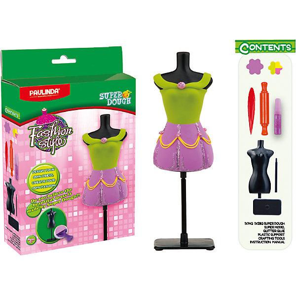 Paulinda Масса для лепки Мода и стиль: Наряд куклы, зелено-розовый