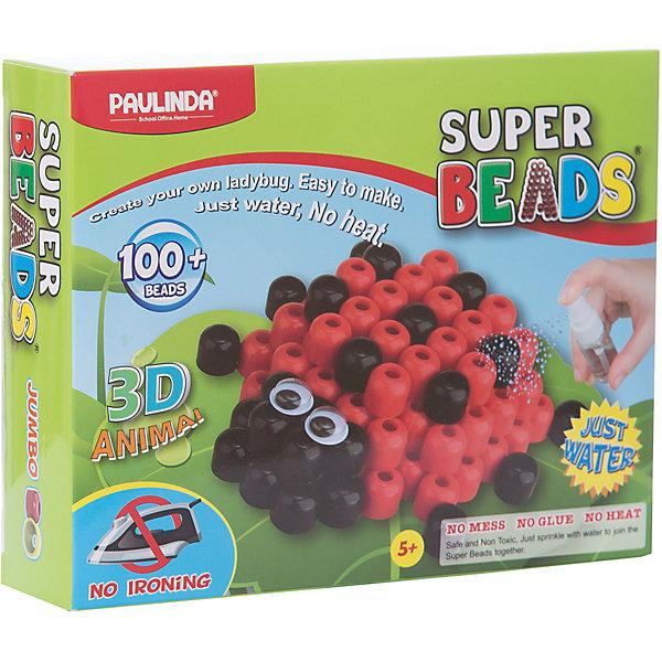 3D мозаика Paulinda Super Beads Божья коровкаАквамозаика<br>Характеристики:<br><br>• мозаика – набор для развития мелкой моторики;<br>• детали мозаики выкладываются на шаблон;<br>• готовая конструкция опрыскивается водой из пульверизатора;<br>• детали мозаики склеиваются друг с другом;<br>• получается объемная фигурка;<br>• комплект набора: 1 планшет-основа, пульверизатор для воды, инструмент для работы, более 100 деталей, пара глаз (двигающиеся);<br>• для склеивания утюг не требуется;<br>• материал: пластик;<br>• размер упаковки: 19,2х4,7х15,2 см;<br>• вес: 150 г.<br><br>Набор для детского творчества Paulinda предлагает детям старше 5 лет изготовить объемные фигурки из мозаики. В наборе имеется шаблон, на котором выкладывается аппликация из цветных деталей мозаики. В процессе игры развивается сосредоточенность, внимание, координация движений, цветовосприятие. <br><br>Мозаику 3D «Божья коровка», более 100 деталей, без использования утюга можно купить в нашем интернет-магазине.<br>Ширина мм: 192; Глубина мм: 47; Высота мм: 152; Вес г: 150; Возраст от месяцев: 60; Возраст до месяцев: 120; Пол: Унисекс; Возраст: Детский; SKU: 7345765;