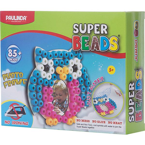 3D мозаика Paulinda Super Beads СоваАквамозаика<br>Характеристики:<br><br>• мозаика – набор для развития мелкой моторики;<br>• детали мозаики выкладываются на шаблон;<br>• готовая конструкция опрыскивается водой из пульверизатора;<br>• детали мозаики склеиваются друг с другом;<br>• получается фоторамка из мозаики;<br>• комплект набора: 1 фоторамка-основа, пульверизатор для воды, инструмент для работы, более 85 деталей;<br>• для склеивания утюг не требуется;<br>• материал: пластик;<br>• размер упаковки: 19,2х4,7х15,2 см;<br>• вес: 150 г.<br><br>Набор для детского творчества Paulinda предлагает детям старше 5 лет изготовить фоторамку из мозаики. В наборе имеется шаблон, на котором выкладывается аппликация из цветных деталей мозаики. В процессе игры развивается сосредоточенность, внимание, координация движений, цветовосприятие. <br><br>Мозаику 3D «Сова», более 85 деталей, без использования утюга можно купить в нашем интернет-магазине.<br>Ширина мм: 192; Глубина мм: 47; Высота мм: 152; Вес г: 150; Возраст от месяцев: 60; Возраст до месяцев: 120; Пол: Унисекс; Возраст: Детский; SKU: 7345766;