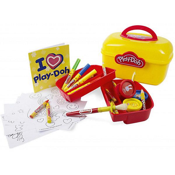 Набор Play doh Сундучок художникаНаборы для рисования<br>Характеристики товара:<br><br>• возраст: от 3 лет;<br>• пол: для девочек и мальчиков;<br>• комплектация: 5 маркеров, 5 восковых мелков, 3 баночки красок, альбом, кисть;<br>• из чего сделана игрушка (состав): пластик, краски, бумага;<br>• размер упаковки: 28х21х16 см.;<br>• вес: 1000 гр.;<br>• упаковка: чемоданчик;<br>• страна обладатель бренда: США.<br><br>Набор «Сундучок художника» выглядит как небольшой чемоданчик, в котором собраны самые необходимые для творчества принадлежности: альбом, краски и кисть, а также восковые мелки и маркеры. <br><br>Все содержимое сундучка аккуратно разложено по специальным отсекам, которые помогают ребенку сохранять порядок в своем заветном сундучке и не терять нужные предметы.<br><br>Игра с данным набором позволяет ребенку потренировать мелкую моторику рук, пофантазировать, стать более аккуратным и внимательным к мелким деталям.<br><br>Набор «Сундучок художника» можно купить в нашем интернет-магазине.