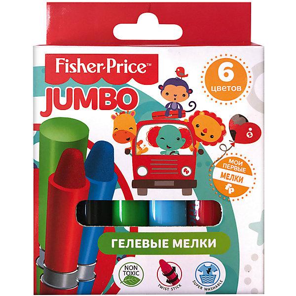 Гелевые мелки Fisher Price 6 цветовМасляные и восковые мелки<br>Характеристики:<br><br>• количество: 6шт.;<br>• материал упаковки: картон;<br>• упаковка: коробка;<br>• размер упаковки: 10,5х10,5х1,7см.;<br>• вес: 111г.;<br>• для детей в возрасте: от 3лет.;<br>• страна производитель: Китай.<br><br>Набор гелевых мелков Fisher Price (Фишер Прайс) бренда «Limpopo» (Лимпопо), станет отличным приобретением для малышей. Он создан из качественных, экологически чистых материалов, что очень важно для детских товаров.<br><br> Набор состоит из шести мелков в пластиковом корпусе с поворотным механизмом. Специальные мелки созданы для малышей любящих рисовать. В их состав входят только пищевые красители на водной основе имеющие горький вкус, что совершенно безопасно для ребёнка. Гелиевая структура делает письмо намного мягче и сохраняет яркость при высыхании.<br><br> Мелки хорошо накладываются на любую основу и легко отмываются от рук. Рисование доставляет большое удовольствие маленькому ребёнку, развивает его тактильные навыки, мелкую моторику и воображение.<br><br>Набор гелевых мелков Fisher Price (Фишер Прайс) можно купить в нашем интернет-магазине.<br>Ширина мм: 105; Глубина мм: 105; Высота мм: 17; Вес г: 111; Возраст от месяцев: 12; Возраст до месяцев: 72; Пол: Унисекс; Возраст: Детский; SKU: 7365735;