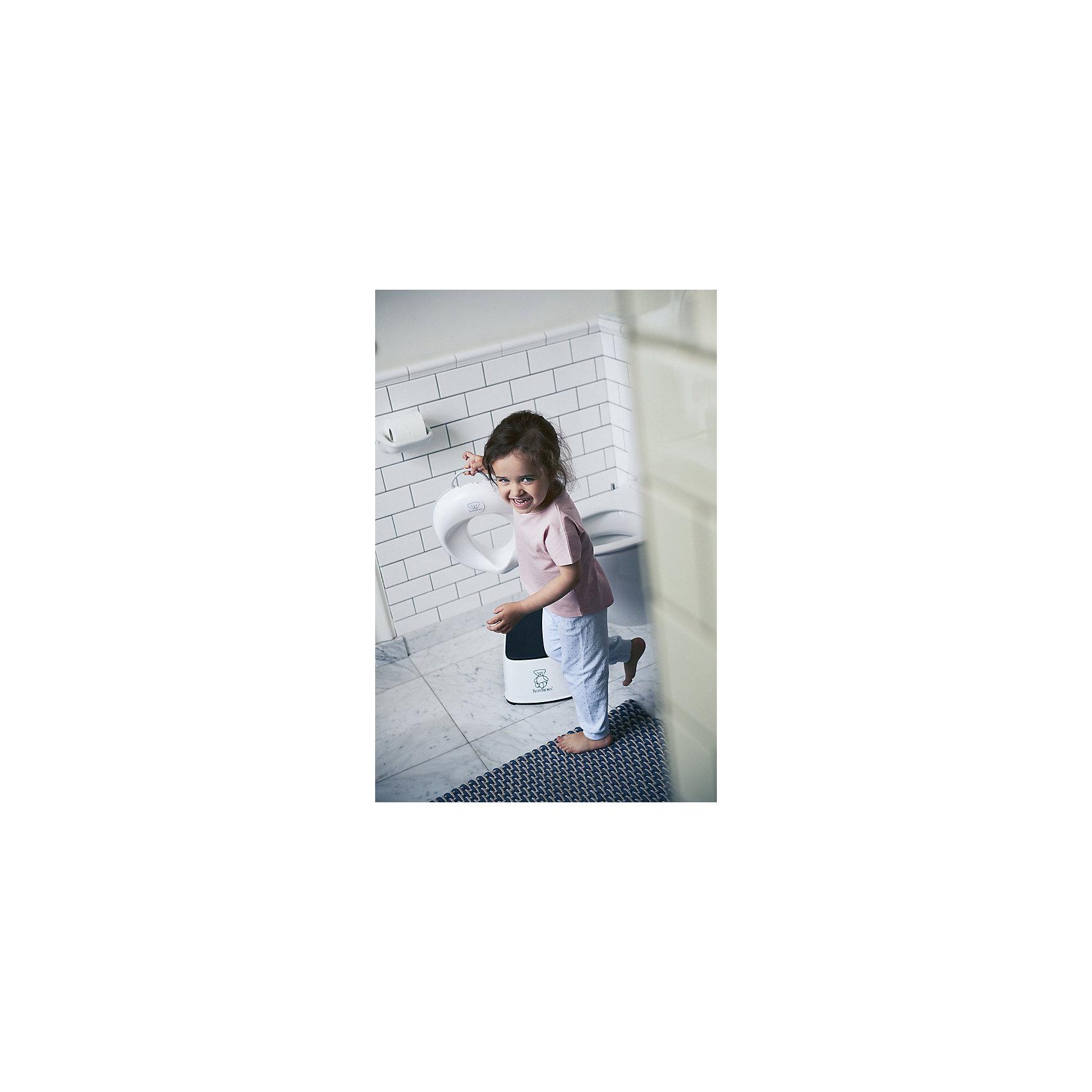 Сиденье для унитаза BabyBjorn, белый/серый