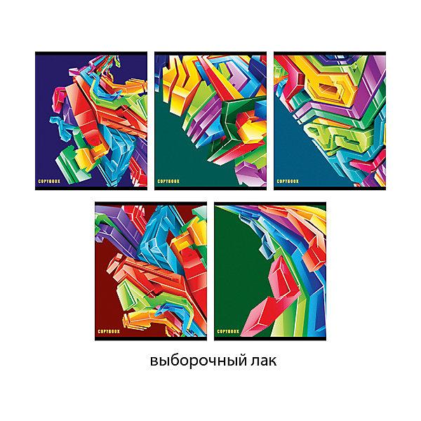 Объемная абстракция 96л., 5 видовТетради<br>Характеристики:<br><br>• возраст: от 7 лет<br>• в наборе: 1 тетрадь<br>• формат: А5<br>• количество листов: 96<br>• обложка: мелованный картон, выборочный лак<br>• внутренний блок: офсет, плотностью 60 г/м2, клетка<br>• крепление: скрепка<br>• дизайн обложки в ассортименте (5 видов)<br>• ВНИМАНИЕ! Данный артикул представлен в разных вариантах исполнения. К сожалению, заранее выбрать определенный вариант невозможно. При заказе нескольких тетрадей возможно получение одинаковых<br><br>Тетрадь в клетку «Объемная абстракция» предназначена для школьников. Отличная полиграфия и качественная бумага обеспечат высокое качество письма. Обложка из мелованного картона позволит сохранять тетрадь в аккуратном виде в течение всего периода использования.<br><br>Тетрадь «Объемная абстракция» 96л., 5 видов можно купить в нашем интернет-магазине.<br>Ширина мм: 202; Глубина мм: 8; Высота мм: 160; Вес г: 191; Возраст от месяцев: 84; Возраст до месяцев: 2147483647; Пол: Унисекс; Возраст: Детский; SKU: 7373871;