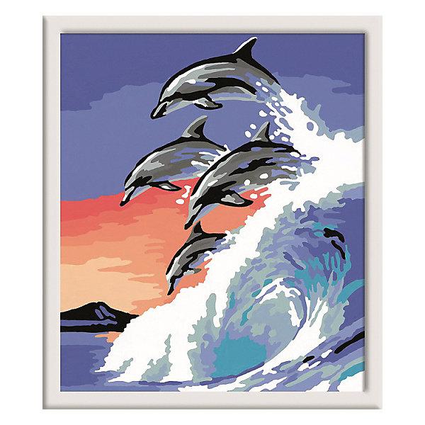 Ravensburger Раскрашивание по номерам «Дельфины» Размер картинки – 18*24 см