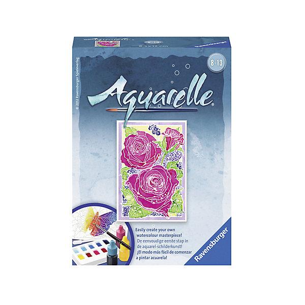 Акварель мини «Розы» Размер картинки – 12*8,5 см #Раскраски на холсте<br>Характеристики:<br><br>• тип игрушки: набор для детского творчества;<br>• комплектация: фактурная картонная основа с нанесенным сюжетом, акриловые краски, кисть, пипетка для дозирования красок, палитра;<br>• бренд: Ravensburger;<br>• размер: 10х4,5х13 см;<br>• вес: 64 гр;<br>• размер картины: 12х8,5 см;<br>• возраст: от 8 лет;<br>• материал: картон, акрил, пластик.<br><br>Акварель мини «Розы» надолго увлечет ребенка от восьми лет.  Она подойдет для развития художественных способностей, станет отличным подарком юному художнику. Все необходимые цвета красок можно найти в комплекте. Юный художник будет раскрашивать картину НЕ по номерам, а по нанесенному эскизу следуя инструкции.<br>Акварель позволяет, следуя инструкции, закрашивать участки красками, которые нанесены эскизно. Акриловые краски входят в набор. Такая картина станет отличным украшением интерьера и на долгое время увлечет ребенка. При этом с таким подарком у ребенка будет развиваться усидчивость и мелкая моторика рук.<br><br>Акварель мини «Розы» можно купить в нашем интернет-магазине.<br>Ширина мм: 100; Глубина мм: 45; Высота мм: 130; Вес г: 64; Возраст от месяцев: -2147483648; Возраст до месяцев: 2147483647; Пол: Унисекс; Возраст: Детский; SKU: 7376790;