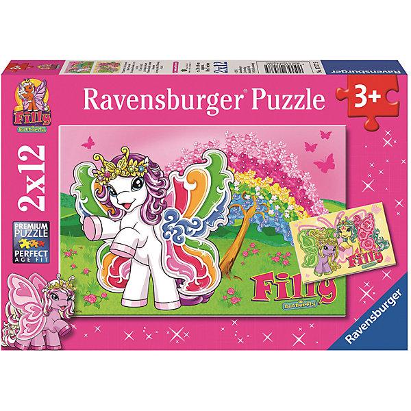 Ravensburger Пазл 2 в 1 Филли. Принцесса Скарлет 2*12 шт# пазл ravensburger 2 в 1 филли принцесса скарлет 24 элемента 075775