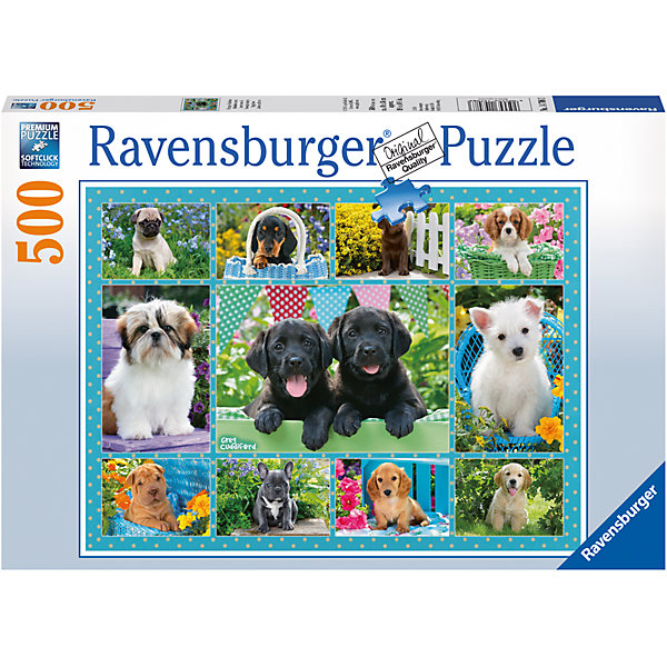 Ravensburger Пазл «Милые щенки» 500 шт
