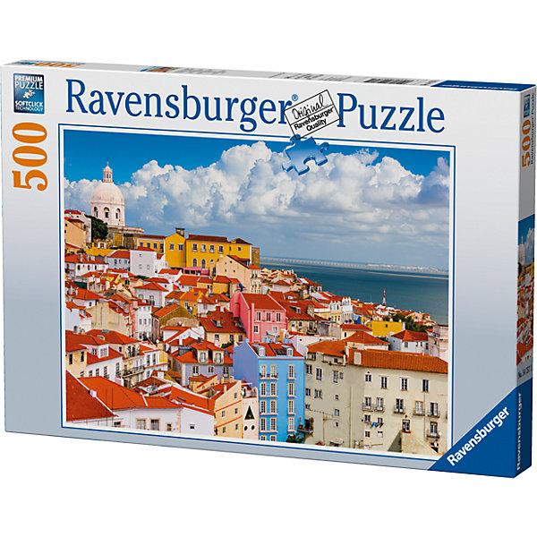 Пазл «Лиссабон, Португалия» 500 штПазлы классические<br>Характеристики:<br><br>• тип игрушки: пазл;<br>• комплектация: 500 эл;<br>• бренд: Ravensburger;<br>• упаковка: картон;<br>• размер: 34х4х23 см;<br>• вес: 587 гр;<br>• возраст: от 6 лет;<br>• материал: картон.<br><br>Пазл «Лиссабон, Португалия» 500 элементов представляет из себя увлекательную игру для детей от шести лет. Набор состоит из 500 деталей, выполненных из высококачественного картона. Из них предлагается собрать изображение одного из самых красивых городов Европы – Лиссабона в Португали. Это тихий и уютный городой с красными крышами на побережье. Такой городской пейзаж станет отличным украшением любого интерьера.      <br>Головоломки Ravensburger всегда отличаются высоким качеством полиграфии, изготовлены из экологичного сырья. Собранный пазл будет иметь матовую поверхность без бликов, потому как напечатан на качественной ламинированной бумаге. Пазл сделан из плотного картона, с нанесением красочного рисунка и аккуратной вырубкой деталей с четкими гладкими краями, которые позволяют легко состыковывать элементы пазла между собой. Сборка данного пазла сможет увлечь детей и поспособствовать развитию логического мышления и усидчивости.  Они также развивают образное мышление, наблюдательность и внимательность, а также мелкую моторику и координацию движений рук.<br>Пазл «Лиссабон, Португалия» 500 элементов можно купить в нашем интернет-магазине.