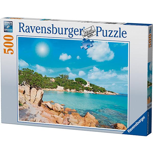 Пазл «Пляж в Сардинии» 500 штПазлы классические<br>Характеристики:<br><br>• тип игрушки: пазл;<br>• комплектация: 500 эл;<br>• бренд: Ravensburger;<br>• упаковка: картон;<br>• размер: 34х4х23 см;<br>• вес: 587 гр;<br>• возраст: от 6 лет;<br>• материал: картон.<br><br>Пазл «Пляж в Сардинии» 500 элементов представляет из себя увлекательную игру для детей от шести лет. Набор состоит из 500 деталей, выполненных из высококачественного картона. Из них предлагается собрать изображение одного из самых красивых пляжей Европы, который находится в Сардинии. Это лазурное побережье с прекрасным синим морем и голубым небом. Такой пейзаж станет отличным украшением любого интерьера.      <br>Головоломки Ravensburger всегда отличаются высоким качеством полиграфии, изготовлены из экологичного сырья. Собранный пазл будет иметь матовую поверхность без бликов, потому как напечатан на качественной ламинированной бумаге. Пазл сделан из плотного картона, с нанесением красочного рисунка и аккуратной вырубкой деталей с четкими гладкими краями, которые позволяют легко состыковывать элементы пазла между собой. Сборка данного пазла сможет увлечь детей и поспособствовать развитию логического мышления и усидчивости.  Они также развивают образное мышление, наблюдательность и внимательность, а также мелкую моторику и координацию движений рук.<br>Пазл «Пляж в Сардинии» 500 элементов можно купить в нашем интернет-магазине.
