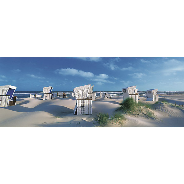 Купить Пазл панорамный «Пляжные корзинки на Зюлте» 1000 шт, Ravensburger, Германия, Унисекс