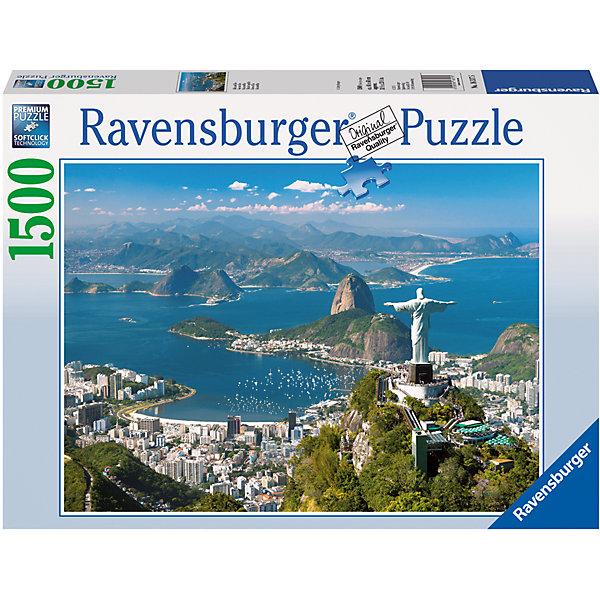 Пазл «Вид на Рио» 1500 штПазлы классические<br>Характеристики:<br><br>• тип игрушки: пазл;<br>• комплектация: 1500 эл.;<br>• бренд: Ravensburger;<br>• упаковка: картон;<br>• размер: 27х6х37 см;<br>• вес: 1,1 кг;<br>• возраст: от 4 лет;<br>• материал: картон.<br><br>Пазл «Вид на Рио» 1500 шт представляет из себя увлекательную игру для детей от четырех лет. Набор состоит из 1500 деталей, выполненных из высококачественного картона. Из них предлагается собрать  изображение картины с песчаными пляжами, белоснежными домами, зелеными горами и голубыми водами океана, будто подступающими прямо к подножью статуи Христа Спасителя.<br><br>Пазл сделан из плотного картона, с нанесением яркого красочного рисунка и аккуратной вырубкой деталей с четкими гладкими краями, которые позволяют легко состыковывать элементы пазла между собой. Сборка данного пазла сможет увлечь детей и поспособствовать развитию логического мышления и усидчивости.  Они также развивают образное мышление, наблюдательность и внимательность, а также мелкую моторику и координацию движений рук. Собранную картинку можно поместить в рамку и использовать ее в качестве украшения интерьера.<br><br>Пазл «Вид на Рио» 1500 шт можно купить в нашем интернет-магазине.<br>Ширина мм: 370; Глубина мм: 60; Высота мм: 270; Вес г: 1106; Возраст от месяцев: -2147483648; Возраст до месяцев: 2147483647; Пол: Унисекс; Возраст: Детский; SKU: 7377066;
