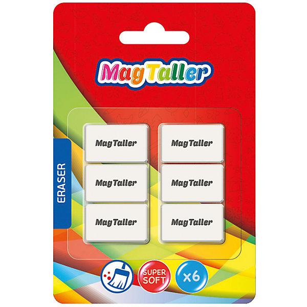 MagTaller Ластик MagTaller Kumi Mini 6 шт, белый magtaller рюкзак школьный magtaller fancy cayenne