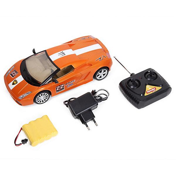 Mioshi Радиоуправляемая машинка Tech, оранжево-белая, 24 см