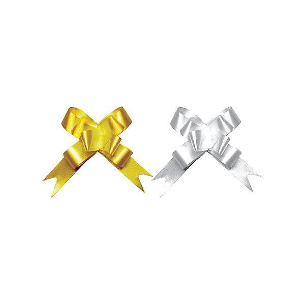 Бант-бабочка, 2 штуки RegalissimiУпаковка новогоднего подарка<br>Характеристики:<br><br>• вес: 5г.;<br>• материал:  металлизированное покрытие;<br>• размер упаковки: 45х1,8х0,5см.;<br>• для детей в возрасте: от 3 лет.;<br>• страна производитель: Россия.<br><br>Набор металлизированных бантов-бабочек золотого и серебрянного цвета, бренда «Regalissimi» (Регалисими) станет прекрасным украшением упаковки любого детского подарка.Он создан из высококачественных, экологически чистых материалов, что очень важно для детских товаров.<br><br> Оформление для подарочной упаковки разработано итальянскими дизайнерами и пользуется неизменно высоким спросом на протяжении нескольких лет. Коллекции созданы с учётом цветовой гармонизации ряда, что позволяет оформлять подарки в едином стиле.    <br>               <br>Набор металлизированных бантов-бабочек, можно купить в нашем интернет-магазине.<br>Ширина мм: 450; Глубина мм: 18; Высота мм: 5; Вес г: 25; Возраст от месяцев: 36; Возраст до месяцев: 2147483647; Пол: Унисекс; Возраст: Детский; SKU: 7377690;