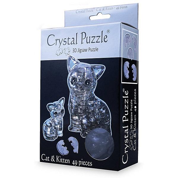 3D головоломка Кошка ЧернаяКристаллические пазлы<br>Характеристики:<br><br>• возраст: от 12 лет;<br>• материал: пластик;<br>• в комплекте: 49 деталей, инструкция;<br>• сложность: 4;<br>• высота готовой фигуры: 9 см;<br>• вес упаковки: 177 гр.;<br>• размер упаковки: 17,3х9,5х5 см;<br>• страна производитель: Китай.<br><br>В 3D головоломке «Кошка» от Crystal Puzzle сразу две очаровательные кристальные кошки — мама и котенок. На свету фигурки красиво переливаются, их можно поставить на подоконник, рабочий стол или полку для украшения комнаты.<br><br>Собрать головоломку можно с помощью подбора элементов по форме и размерам или обратиться к инструкции, что облегчит задачу. Сборка объемного пазла развивает пространственное мышление и логику, а также ловкость рук. Игра выполнена из безопасного пластика.<br><br>3D головоломку «Кошка черная» можно купить в нашем интернет-магазине.<br>Ширина мм: 173; Глубина мм: 95; Высота мм: 50; Вес г: 177; Возраст от месяцев: 144; Возраст до месяцев: 2147483647; Пол: Унисекс; Возраст: Детский; SKU: 7378710;