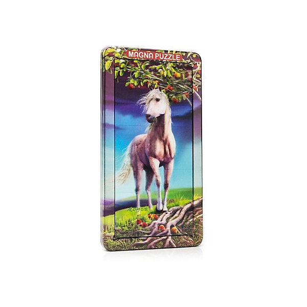 3D Magna пазл портрет ЛошадьПазлы для малышей<br>Характеристики:<br><br>• возраст: от 8 лет;<br>• материал: металл;<br>• в комплекте: 32 детали, металлическая коробка;<br>• вес упаковки: 331 гр.;<br>• размер упаковки: 25,5х14,5х18 см;<br>• страна производитель: Великобритания.<br><br>Красочная стереокартинка с диким животным обманывает зрение! Собранный 3D Magna пазл портрет «Лошадь» от Cheatwell станет прекрасным дополнением к интерьеру и заворожит взгляды гостей дома.<br><br>Составить пазл не так просто, как может показаться вначале. Каждая деталь отражает объемное изображение, которое меняется под разным углом обзора. Чтобы соединить картинку воедино, понадобится вся внимательность. Облегчит задачу металлическая коробка, на которую и сложатся магнитные части головоломки.<br><br>Игра порадует любителей необычных вещей, улучшит концентрацию, внимание и ловкость рук.<br><br>3D Magna пазл портрет «Лошадь» можно купить в нашем интернет-магазине.<br>Ширина мм: 255; Глубина мм: 145; Высота мм: 180; Вес г: 331; Возраст от месяцев: 96; Возраст до месяцев: 2147483647; Пол: Унисекс; Возраст: Детский; SKU: 7378739;