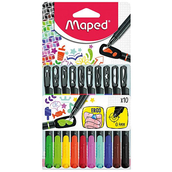 Набор капиллярных ручек GRAPH PEPS MANIA, 10 цветов, 0,4 мм, с трафаретами, MapedРучки<br>Набор капиллярных ручек GRAPH PEPS MANIA с трафаретами. Толщина линии - 0,4 мм. Эргономичная зона обхвата. В наборе 10 цветов. Наконечники-трафареты идут в комплекте с ручками. Насыщенные, хорошо пигментированные оттенки. Идеально для раскрасок, скетчей и рисования. Идеально для тех, кто хочет персонализировать и выделить свои записи. 10 различных наконечников - трафареты-эмотиконы для ваших мыслей и настроения. Наконечники-трафареты можно комбинировать с ручками серии Graph Peps Duo (арт. 749250 и 749251). Простые и надежные защелки, удобно использовать даже ребенку. Трехгранная форма для удобства рисования.<br>Ширина мм: 195; Глубина мм: 103; Высота мм: 18; Вес г: 73; Возраст от месяцев: 60; Возраст до месяцев: 2147483647; Пол: Унисекс; Возраст: Детский; SKU: 7379379;
