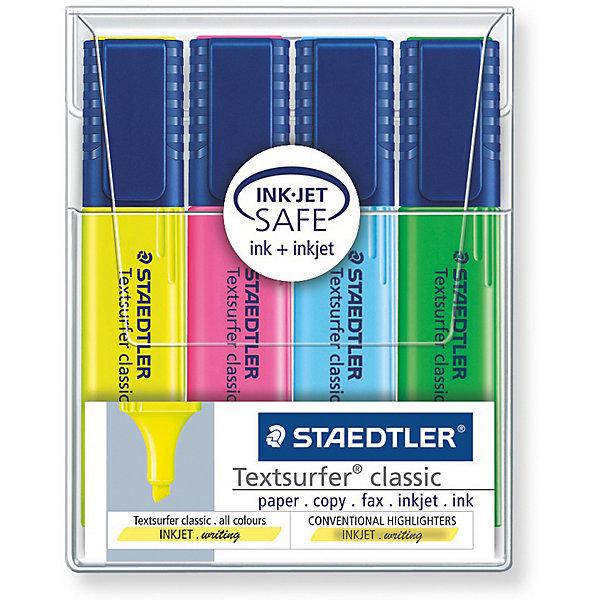 Staedtler Набор маркеров-текстовыделителей Classic, 4 цвета, 1-5мм, Staedtler staedtler набор маркеров для флипчартов lumocolor 4 цвета